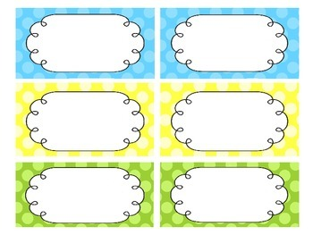 Bright Polka Dot Classroom Labels and Decor -EDITABLE
