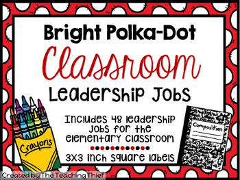 Bright Polka-Dot Classroom Leadership Jobs