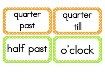 Bright Polka Dot Clock Numbers