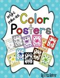 Color Posters: Bright Polka Dot