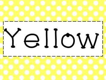 Bright Polka Dot Color Signs