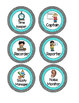 Bright Polka Dot Cooperative Group Roles- Posters and Student Tags