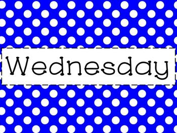 Bright Polka Dot Days of the Week