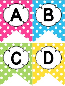 Bright Polka Dot Decor Pack