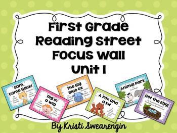 Bright Polka Dot First Grade Reading Street Focus Wall Unit 1