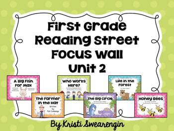 Bright Polka Dot First Grade Reading Street Focus Wall Unit 2