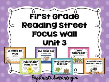 Bright Polka Dot First Grade Reading Street Focus Wall Unit 3