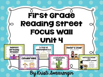 Bright Polka Dot First Grade Reading Street Focus Wall Unit 4