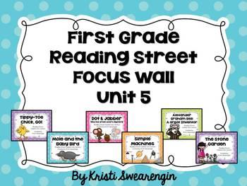 Bright Polka Dot First Grade Reading Street Focus Wall Unit 5