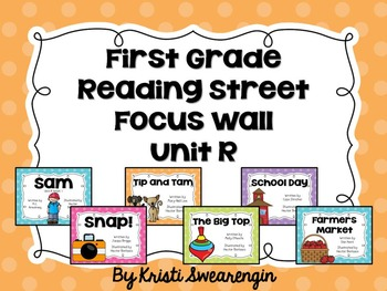 Bright Polka Dot First Grade Reading Street Focus Wall Unit R