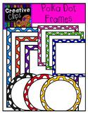 Bright Polka Dot Frames {Creative Clips Digital Clipart}