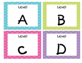 Bright Polka Dot Guided Reading/Leveled Library Labels