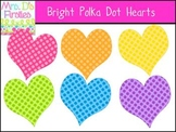 Bright Polka Dot Hearts