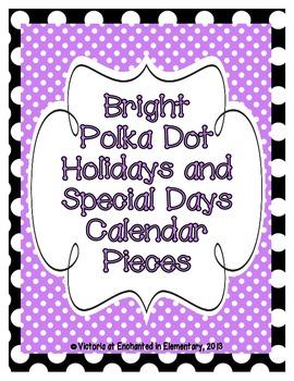 Bright Polka Dot Holiday Calendar Pieces