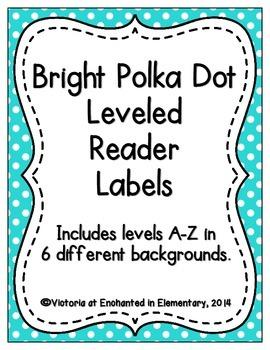 Bright Polka Dot Leveled Reader Labels
