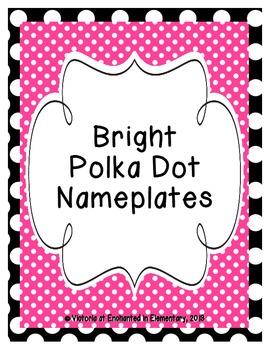 Bright Polka Dot Nameplates