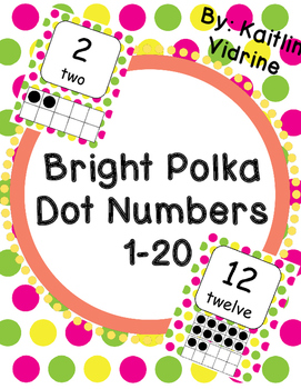 Bright Polka Dot Numbers 1-20