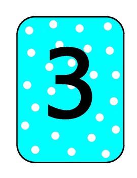 Bright Polka Dot Numbers 1-20