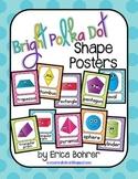 Bright Polka Dot Shape Posters