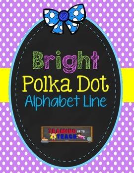Bright Polka Dot Themed Alphabet Line