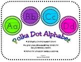 Bright Polka Dot Wall Alphabet