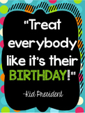Bright Polka Dot and Bright Striped Kid President Quote Bundle