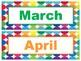 Bright Polka Dots Calendar & Classroom Job Set *FREE*