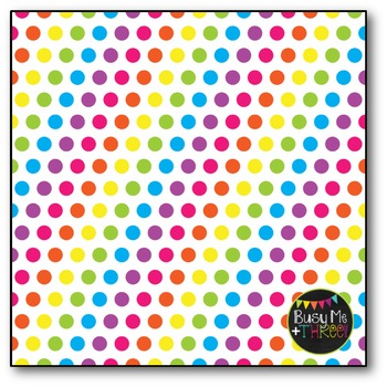 Bright Polka Dots Digital Papers {Commercial Use Digital Graphics}