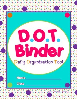 Bright Polka Dots {Spot} Binder Cover