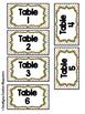 Bright Polka Dots Table Labels