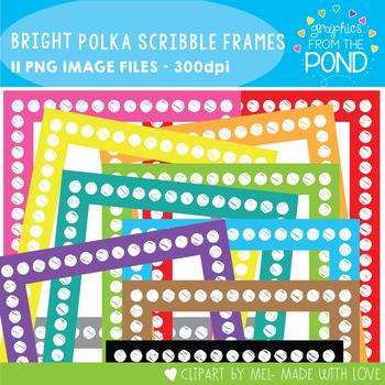 Bright Polka Scribble Frames