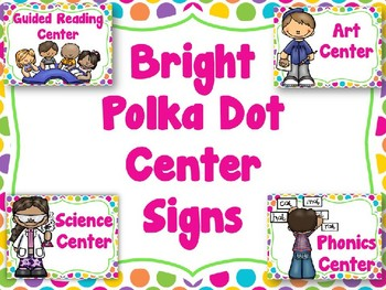 Bright PolkaDot Center Signs