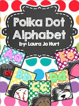 Bright Polkadot Alphabet