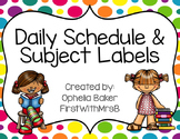 Bright Polkadot Schedule & Center Labels