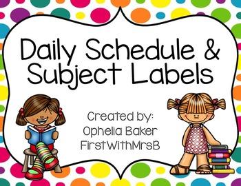 Bright Polkadot Schedule & Center Labels