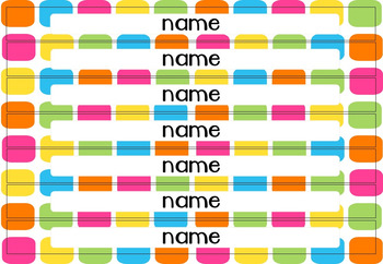 Bright Pops Big Tray Labels