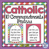 Bright Posters of the Ten Commandments - Catholic {Heaven'