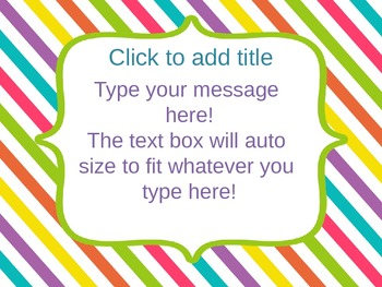 Bright PowerPoint Template - Editable