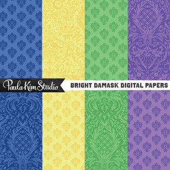 Digital Paper - Bright Damask
