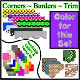 Bright Purple Borders Trim Corners *Create Your Own Dream Classroom/Daycare*