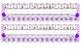 Bright Purple Chevron Desk Reference Nameplates