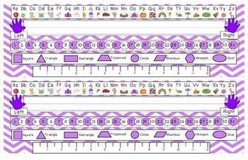 Bright Purple Chevron Desk Reference Nameplates Version 2