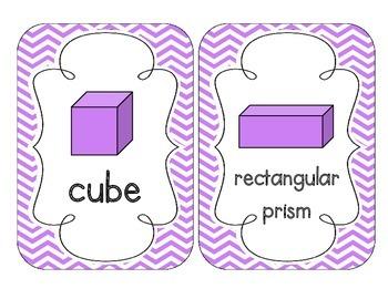 Bright Purple Chevron Shape Cards