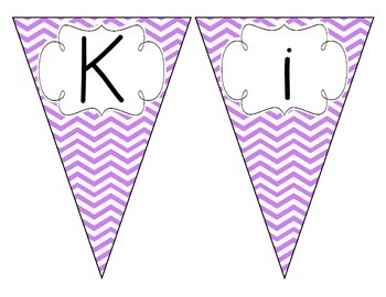 Bright Purple Chevron Welcome Pennant