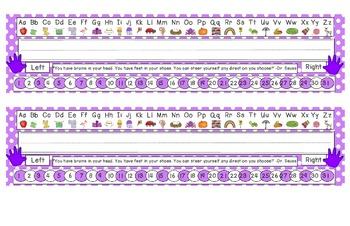 Bright Purple Polka Dot Desk Reference Nameplates