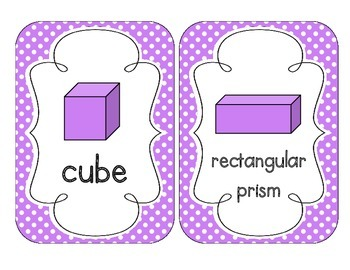 Bright Purple Polka Dot Shape Cards
