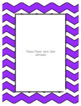Bright Purple Poster Frames * Create Your Own Dream Classroom / Daycare *