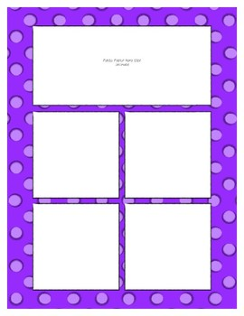 Bright Purple Sorting Mat Frames * Create Your Own Dream Classroom / Daycare *