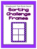 Bright Purple Sorting Mat Frames * Create Your Own Dream C