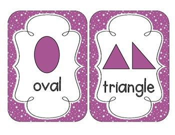 Bright Purple Starry Skies Shape Cards